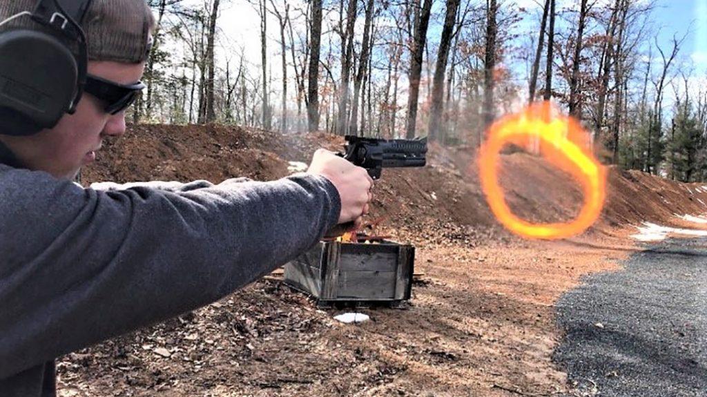 44 mag revolver, test, ring