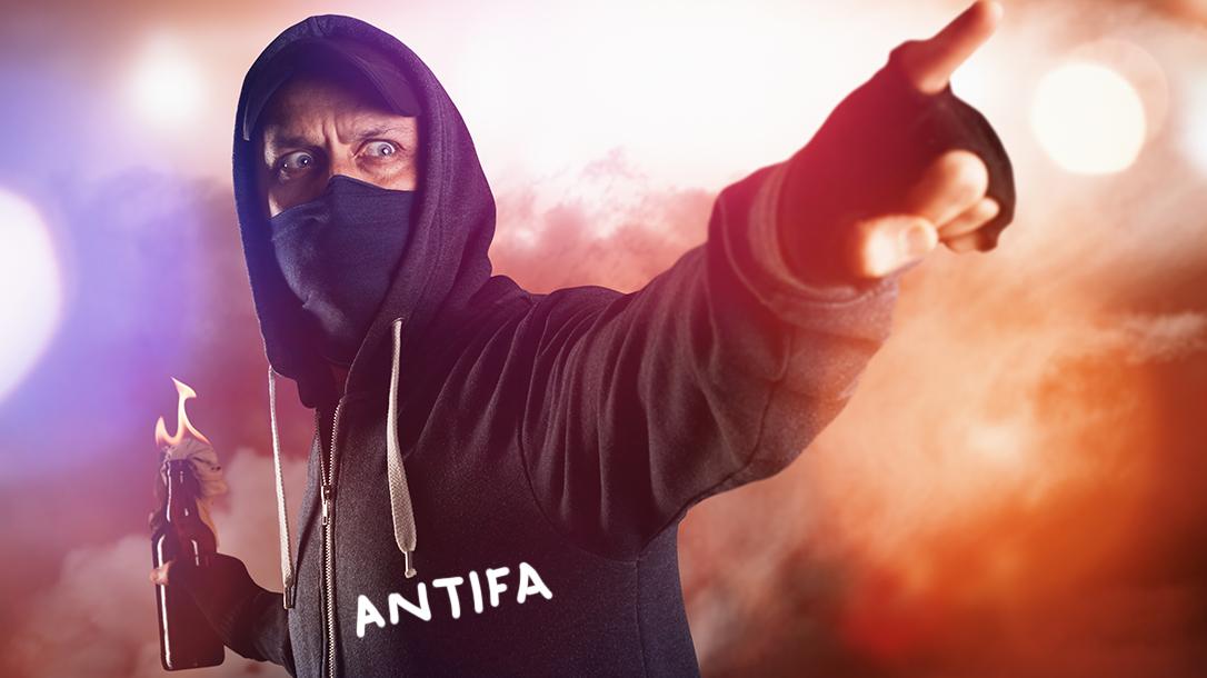 Molotov Cocktail defense, antifa
