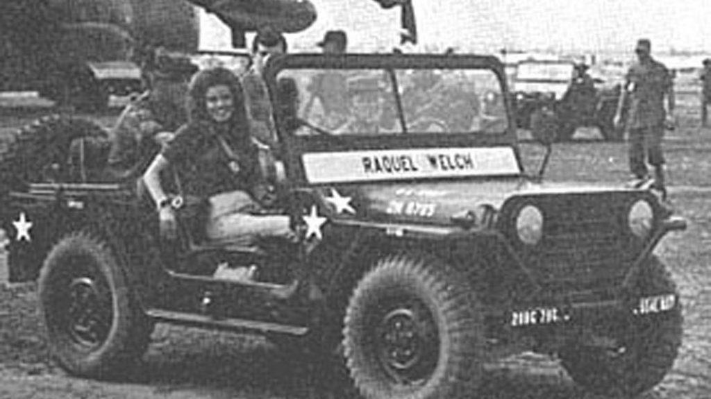 Raquel Welch, Vietnam War, Jeep