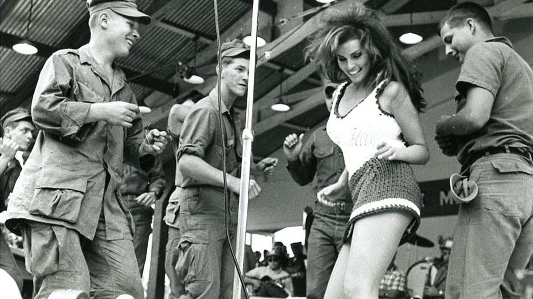 Raquel Welch, Vietnam War, Bob Hope Christmas Show