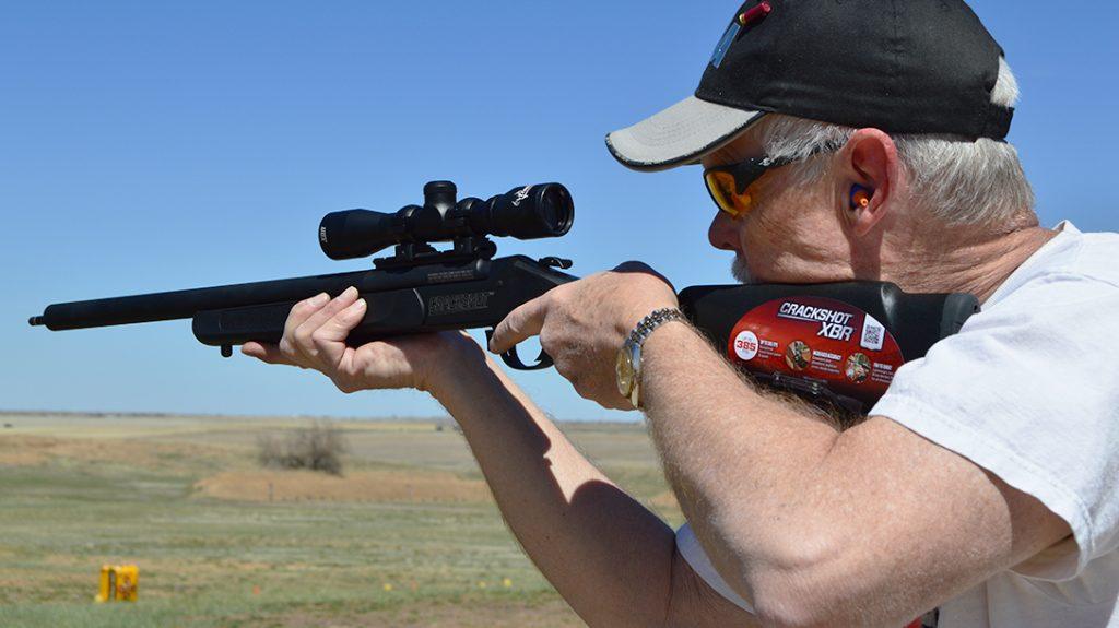 Traditions Crackshot XBR rifle, Arrow, .22 rifle, range
