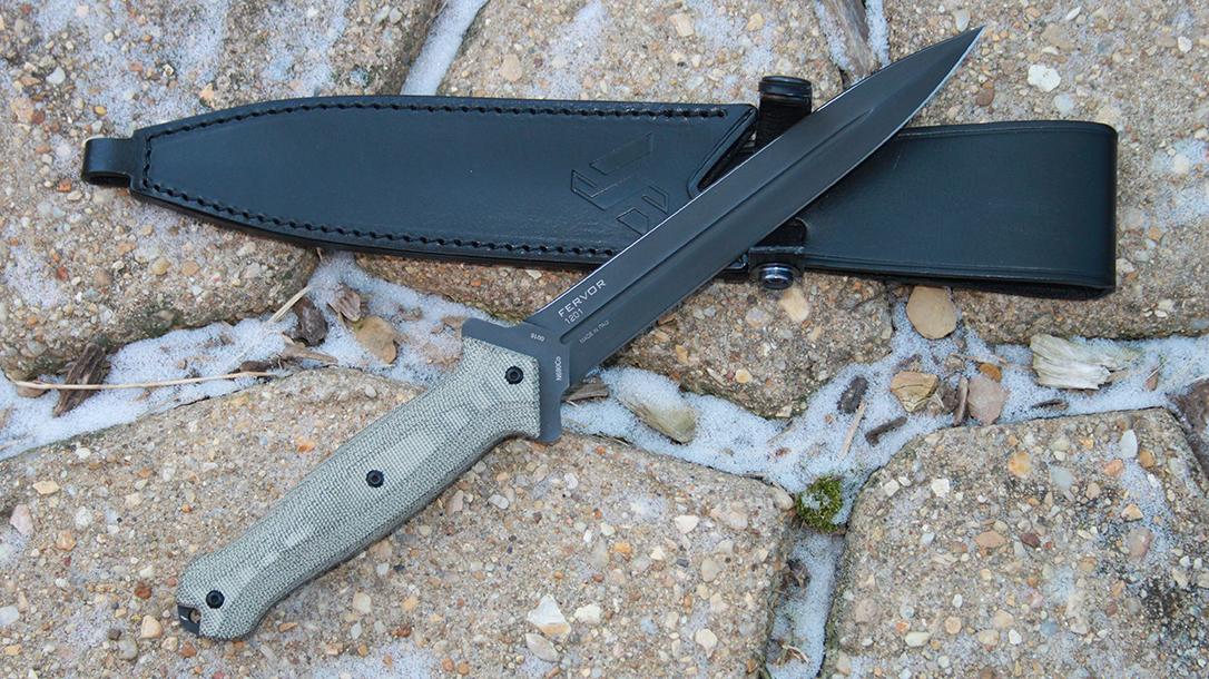 Stiletto Knife, Stilleto Dagger, Steel Will Fervor 1201, sheath