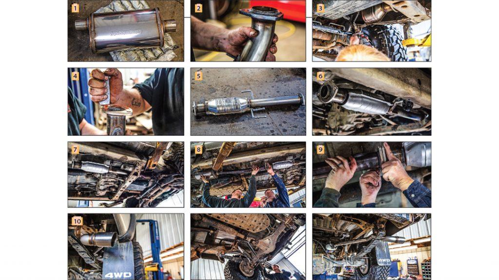 truck exhaust tips, aftermarket exhaust, steps