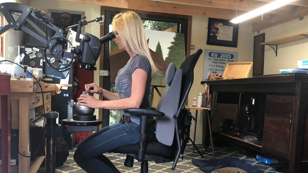 Melissa McMinn Studios, firearm engraver