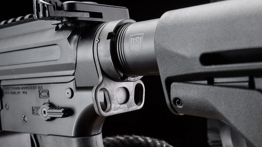 The DS-9 Hailstorm pistol-caliber carbine is chambered in 9mm, placing them in the pistol-caliber carbine category.