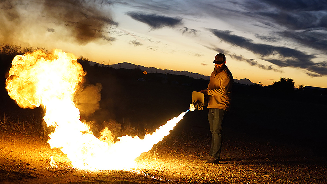 The Exoothermic Pulsefire is a flame thrower.