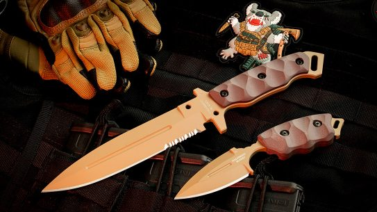 The Halfbreed Blades CCK-05 and MIK-01PS provide a combative edge to be reckoned with.