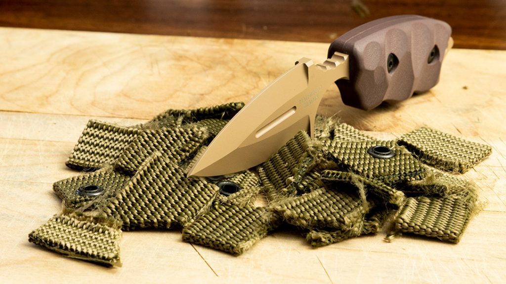 There was no resistance while cutting up this military nylon gun belt.