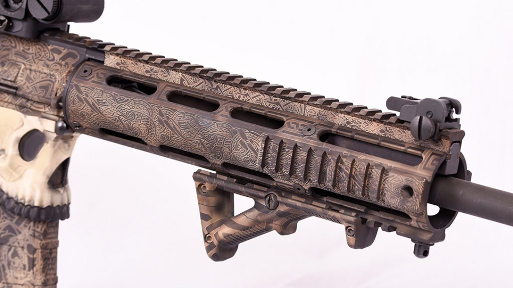 The intricate knotwork on the handguard is a perfect example of Odin's Workshop's incredible craftsmanship.
