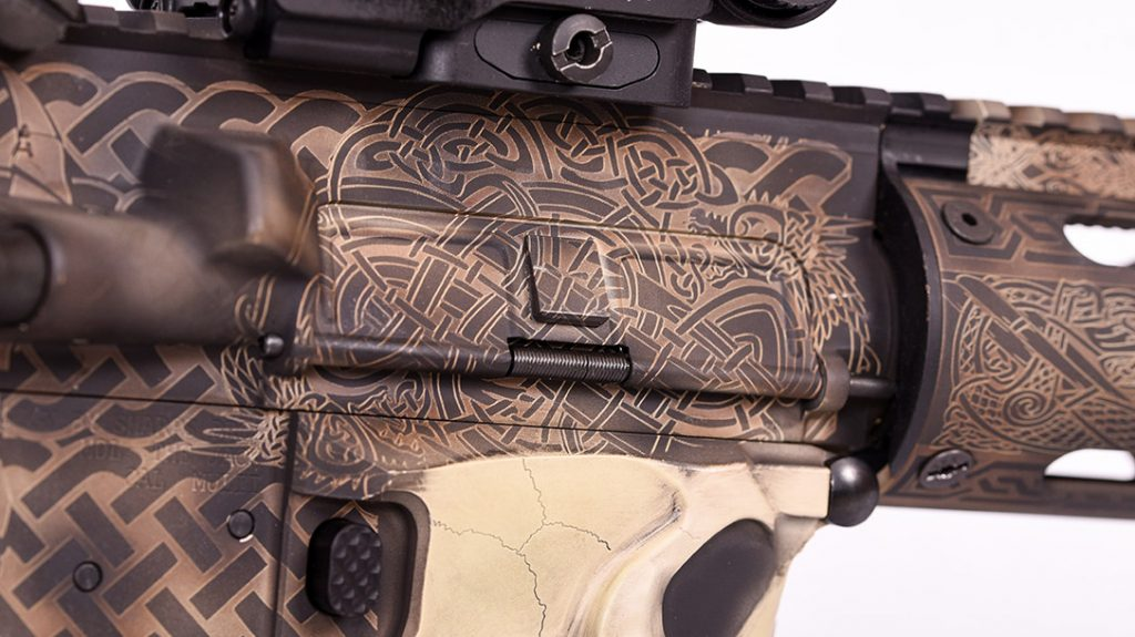 Every inch of the author's rifle is intricately detailed, right down to the dust cover.