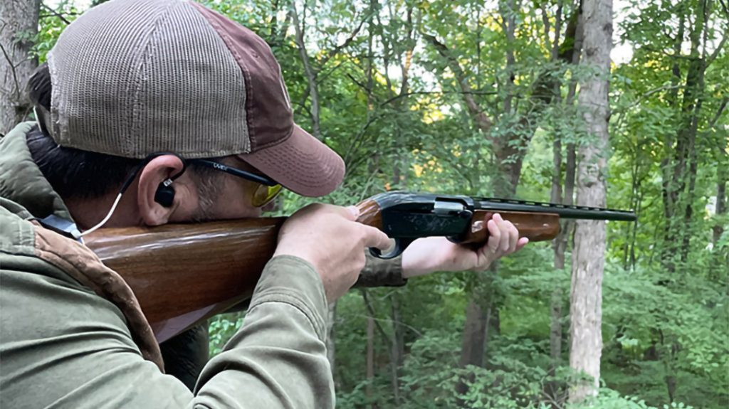 Both hearing protection devices allow for an an unencumbered cheek weld when shouldering a firearm.