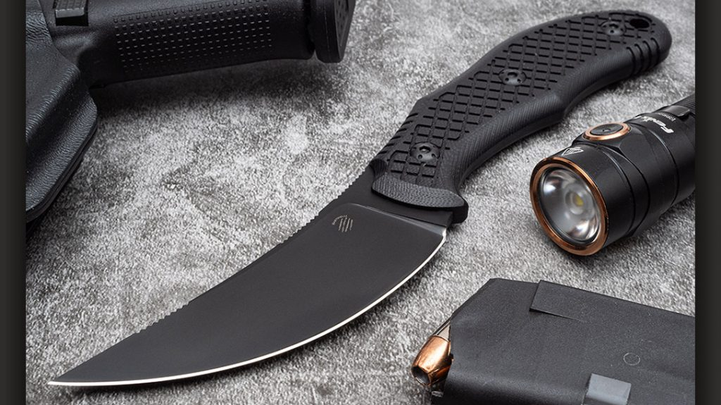 The Bastinelli Chopper fills the self-defense category of our 4 EDC blades.