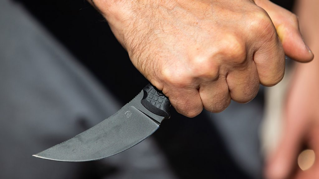 The G10 grips are comfortable and work well with a reverse grip for those that prefer that style of fighting.