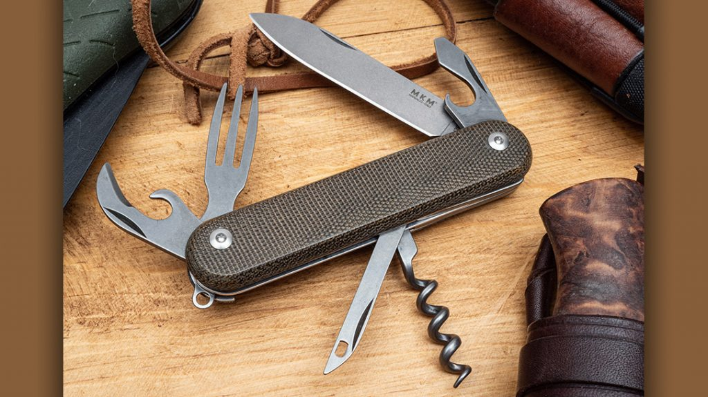 The Malga 6, from MKM Knives, brings high-end materials to a Swiss-army style concept knife. The Malga adds the bushcraft to our 4 EDC blades.