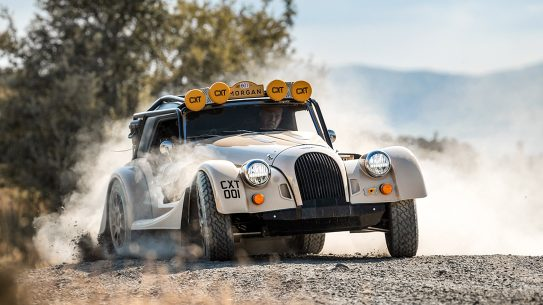 The Morgan Plus Four CX-T is an off-road high-end machine.