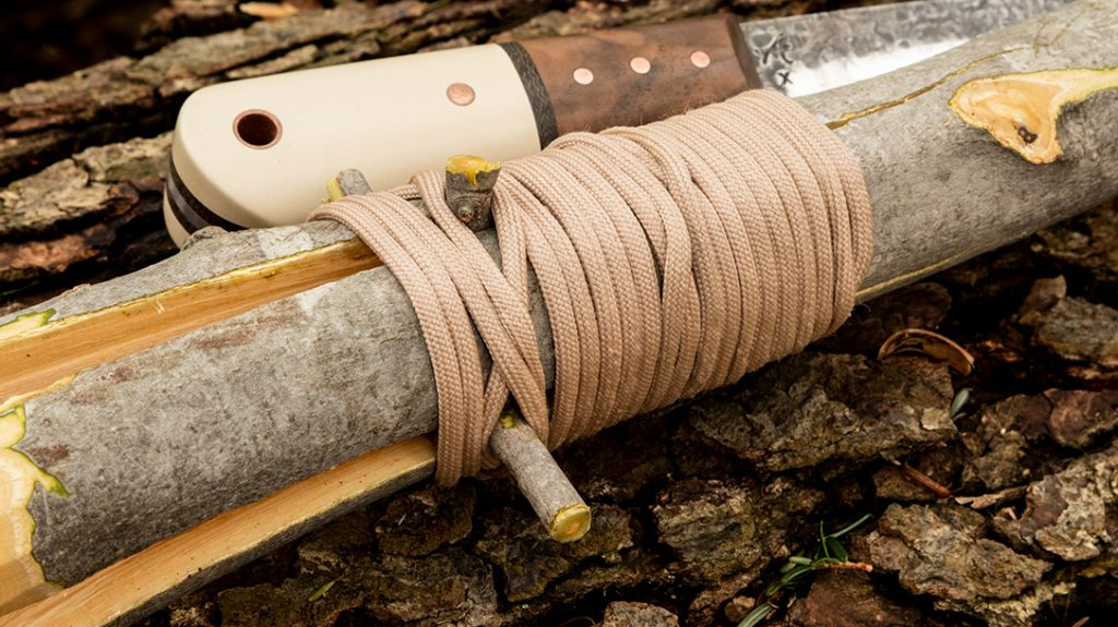 Wrap the base of the prongs with paracord to prevent them from splitting further.