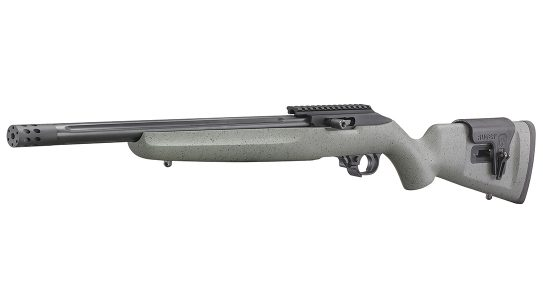 The left-handed Ruger Custom Shop 10/22 comes fully loaded to compete.