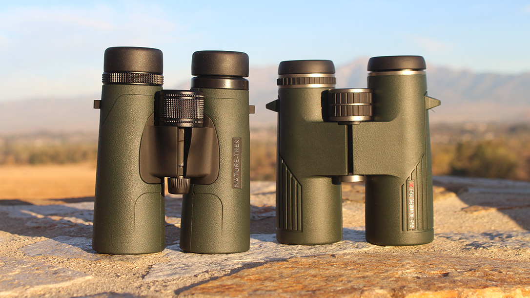 Both of these binoculars from Hawke Optics provide quality optics, solid frames and compact designs at different price points.