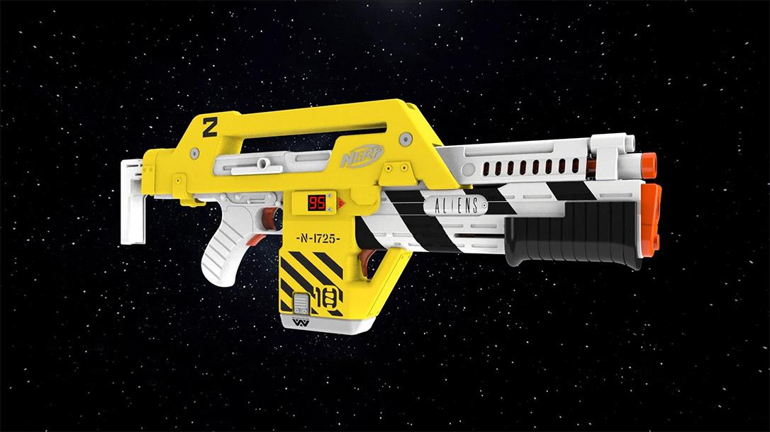 The Nerf LMTD Aliens M41-A Blaster