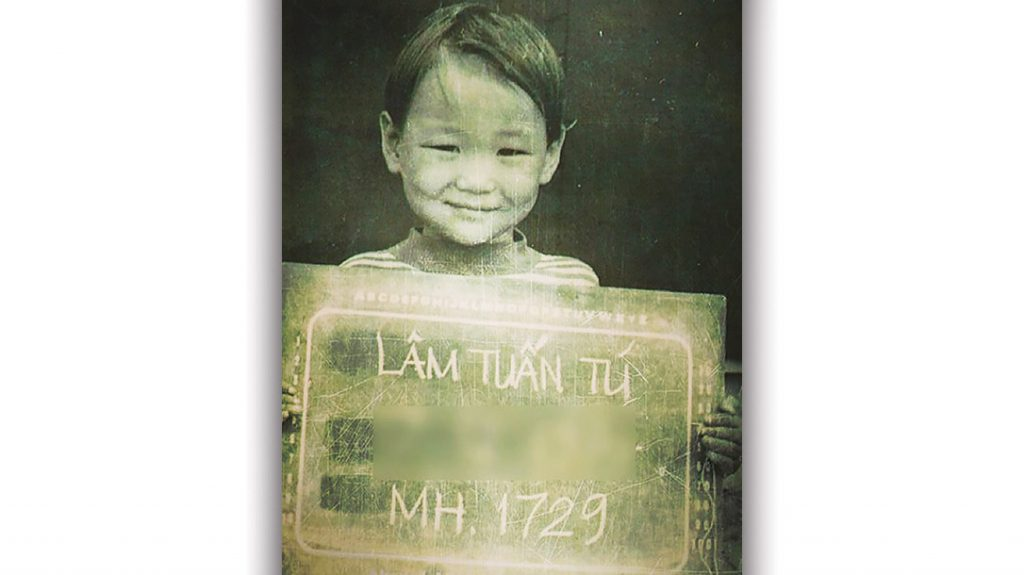 Tu Lam in a refugee camp in Vietnam.