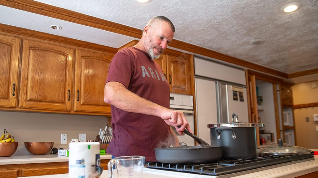 Charlie Melton is a foodie and got his love of cooking from his mom and grandma.