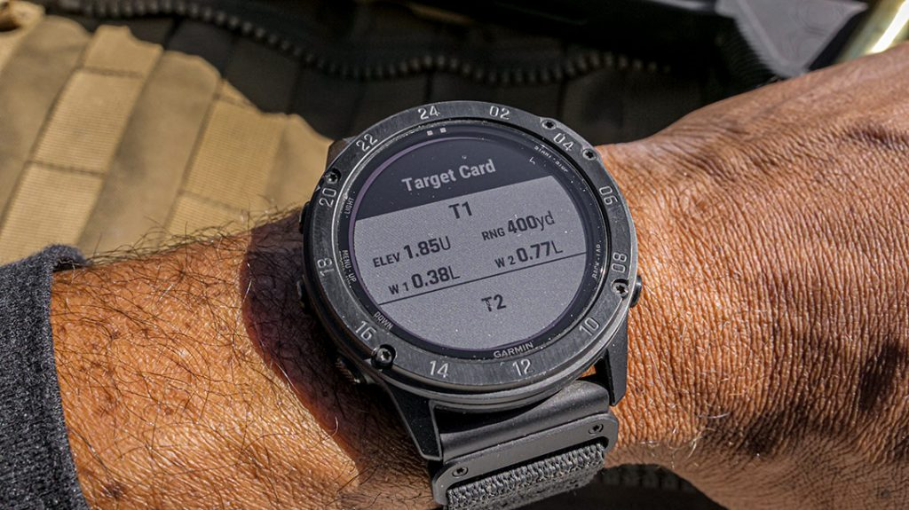 You can easily set up personal target cards on the Garmin Tactix Delta.