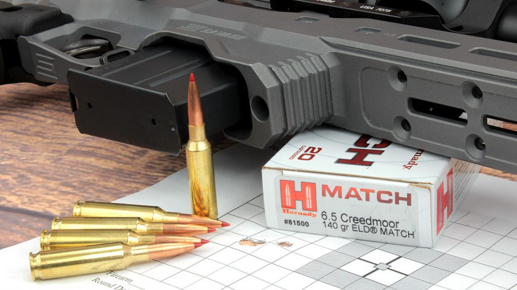 The additional weight of target rifles soaks up recoil and helps the guns produce consistently tiny groups. This is seen here in this group shot by the Savage Model 110 Elite Precision.