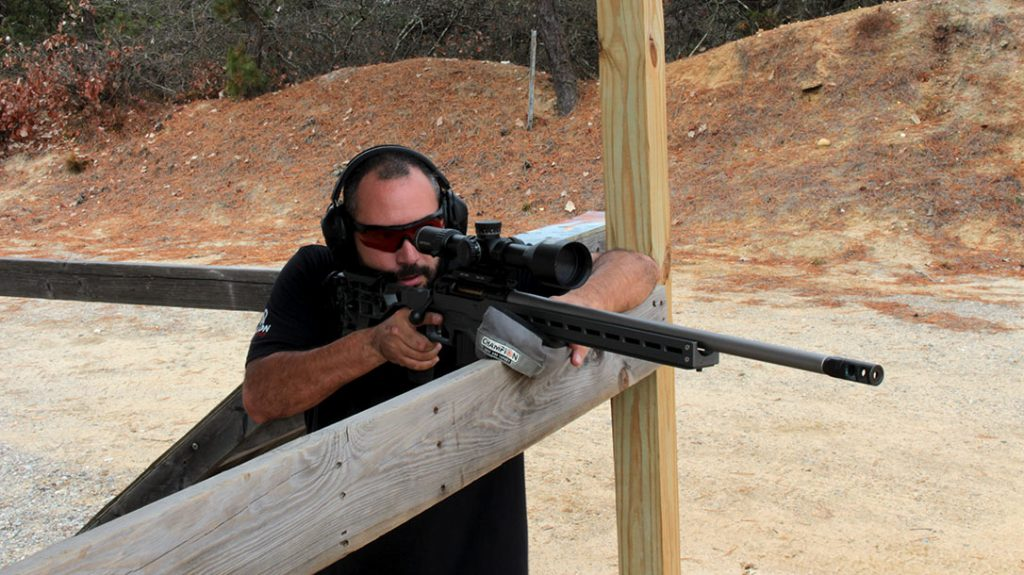 Heavy target guns like the Savage Elite are built to be fired from a supported position. While they're hard to shoot offhand, they are capable of producing outstanding accuracy for those interested in high-level competition.
