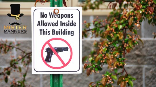 How do you approach non-government no guns allowed signs?