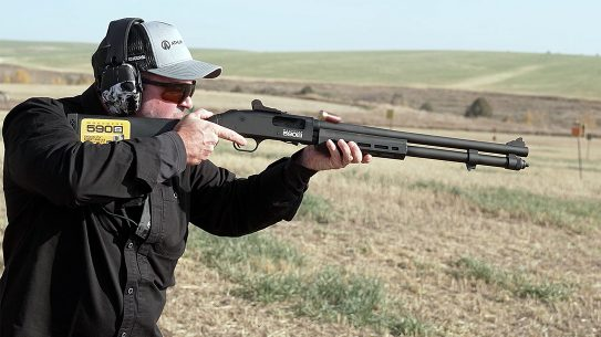 The Mossberg 590S accepts mini-shells for increased capacity.