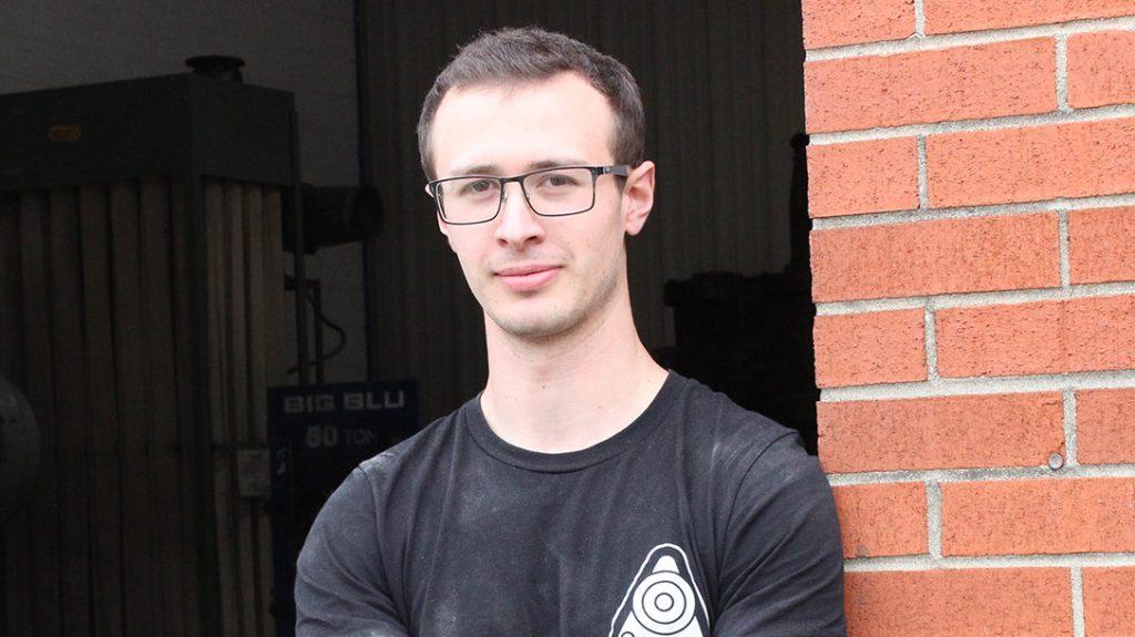 Liam Hoffman of Hoffman Blacksmithing.
